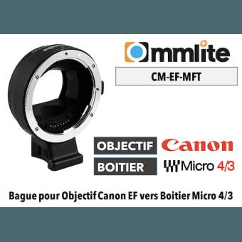 Bague Commlite CM-EF-MFT - Canon (EF) vers MFT Micro 4/3 Boitier (MFT)