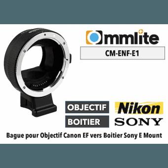 Bague Commlite CM-ENF-E1 - Nikon (ENF) vers Sony (E) Boitier Sony (E)