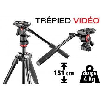 Trépied Vidéo Manfrotto BeFree - compact et léger (aluminium) Trépied vidéo