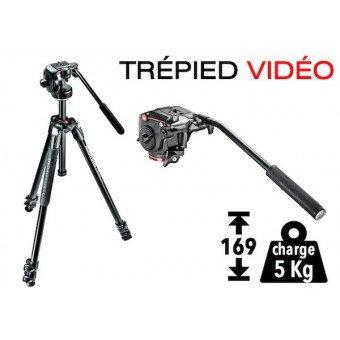 Trépied Vidéo tête fluide - Manfrotto MK290XTA3-2W Trépied vidéo