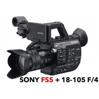 SONY FS5 PXW-FS5K Caméra 4K Super 35 + Optique 18-105mm avec Mise à jour RAW Caméra Vidéo