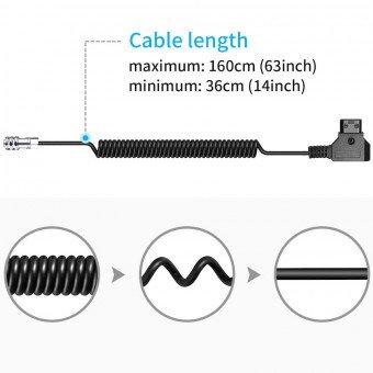 Câble D-Tap spirale 2 Broches pour Blackmagic Pocket 6K / 4K - (36-160 cm) Câbles Vidéo
