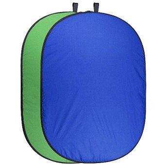 Fond vert & bleu pliable - 150x210 cm Fond pliant