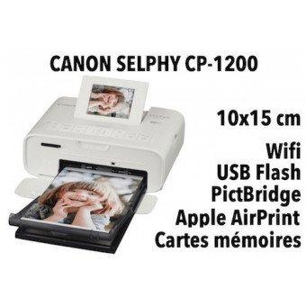 imprimante photo - Canon Selphy CP-1200 - Sublimation thermique Accueil