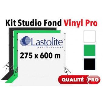Kit Studio vinyle 2.75x6 m - Support + Fond Vinyle Lastolite (Blanc, Noir ou Vert) Kit studio complet