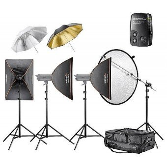 Kit Flash Studio Excellence 1100 watts - 4.4.3 - Walimex pro Flash Studio