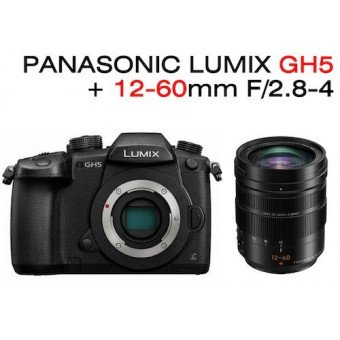 Pack Lumix DMC GH5 + 12-60mm F2.8-4 H-ES Leica OIS Pack Vidéo