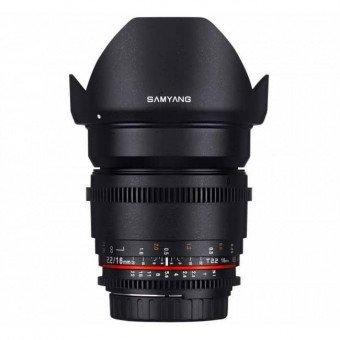 Samyang 16 mm T2.2 V-DSLR ED AS UMC Vidéo - CSII Canon Samyang-Canon