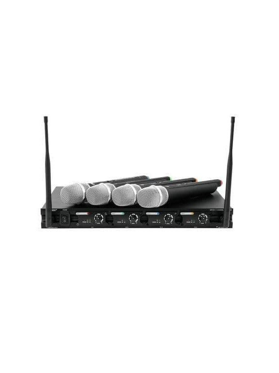 Système complet de sonorisation avec 4 micro sans fil - Omnitronic UHF-204 Wireless mic system Sono & DJ