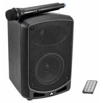 Enceinte 50 w + 1x micros main sans fil - Batterie & Secteur - Enceinte Omnitronic Mini-WAMS 065 BT Sono & DJ