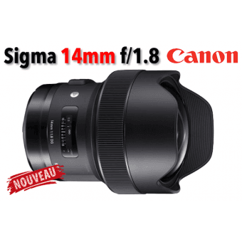 Sigma 14 mm f/1.8 DG HSM Art - Monture Canon Grand Angle