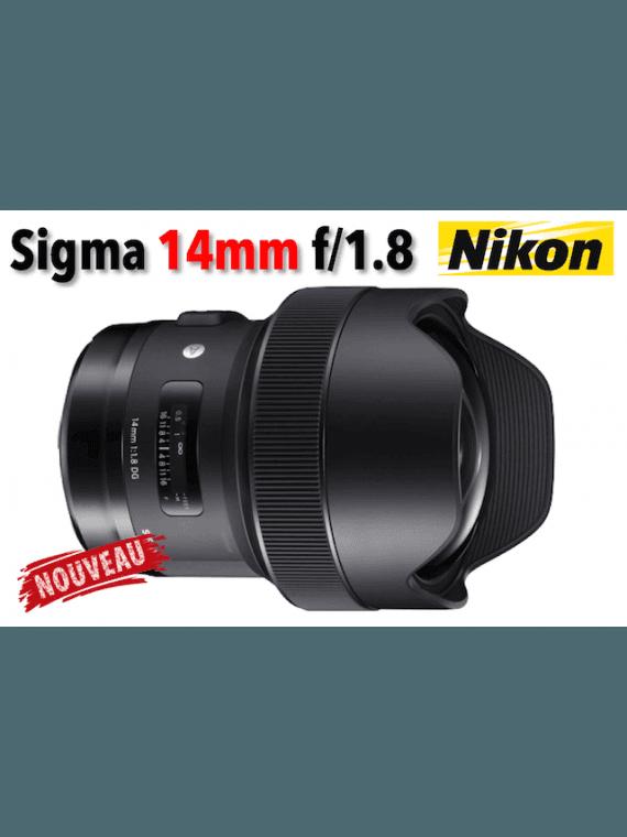 Sigma 14 mm f/1.8 DG HSM Art - Monture Nikon Grand Angle
