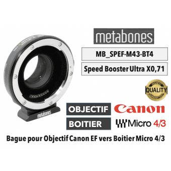 Bague Metabones Canon EF to MFT T II - Speed Booster ULTRA 0,71x MB_SPEF-m43-BT4 Boitier (MFT)