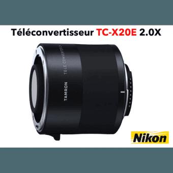 TAMRON Téléconvertisseur TC-X20E 2.0X monture Nikon Multiplicateur