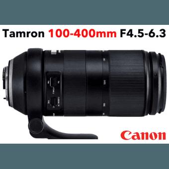 Tamron 100-400 mm F/4,5-6,3 Di VC USD monture CANON Téléobjectif