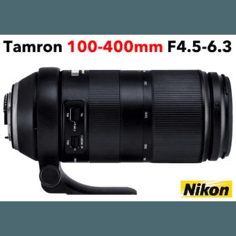 TAMRON 100-400 mm F/4,5-6,3 Di VC USD monture NIKON Téléobjectif