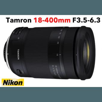 Tamron 18-400 mm F/3,5-6,3 Di II VC HLD monture NIKON objectif photo Téléobjectif