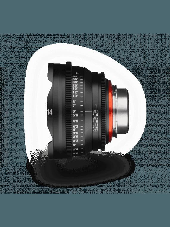 Samyang XEEN 14mm T3.1 - Monture CANON EF objectif vidéo Samyang-Canon