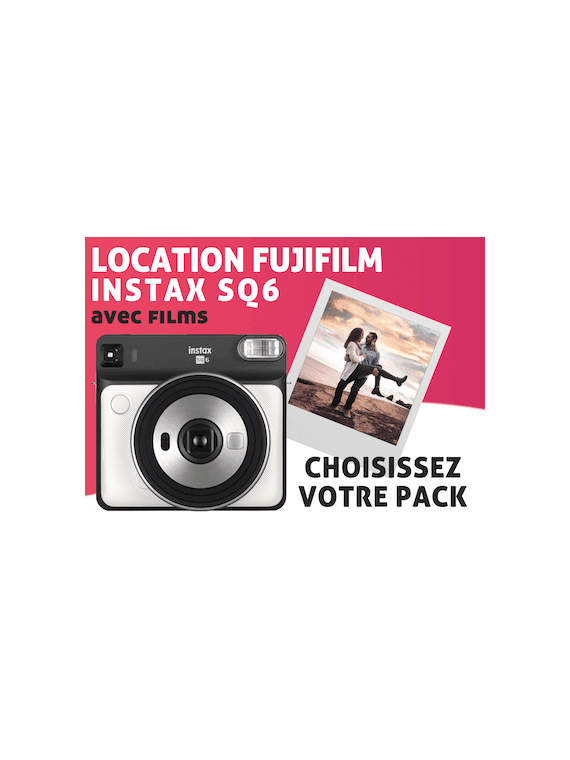 Location Fujifilm Instax Square SQ6 Pack Instax Square
