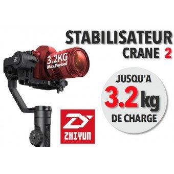 Zhiyun Crane 2 - Stabilisateur d'image avec follow focus- 3,2 Kg Stabilisateur Motorisé
