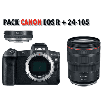 Canon kit EOS R compact hybride + RF 24-105 mm + bague d'adaptation Pack Canon
