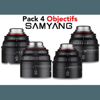 Pack 4 Objectifs Samyang Xeen Samyang-Canon