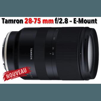 Tamron 28-75mm F/2.8 Di III RXD - Pour hybride Sony E Standard