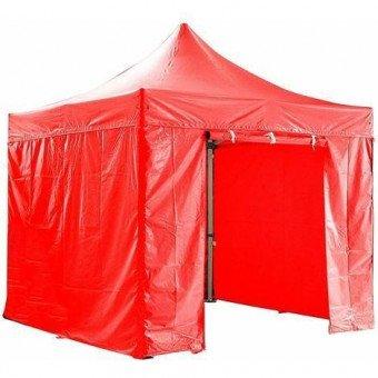 Barnum pliant 3x3m avec pack 4 murs amovibles - rouge - tente pliante Barnum & Tente
