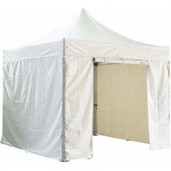 Barnum pliant 3x3m avec pack 4 murs amovibles - blanc - tente pliante Barnum & Tente
