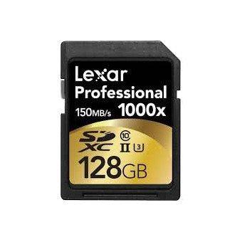 LEXAR carte mémoire SDXC Professionnelle 128 Go 1000x UHS-II classe 10 Carte SD (SD/SDHC/SDXC)