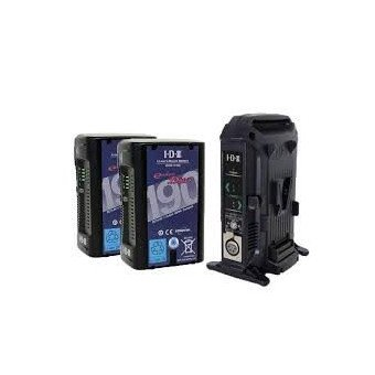 Kit 2x Batteries V-Mount IDX DUO-C190 + Chargeur IDX VL-2X Batterie V-mount / V-lock