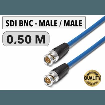 Cordon SDI BNC Male/Male de 0,50 M Câbles Vidéo