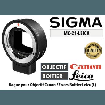 Bague Sigma MC21-EF-E - Canon (EF) vers Leica (L) Boitier Monture (L)