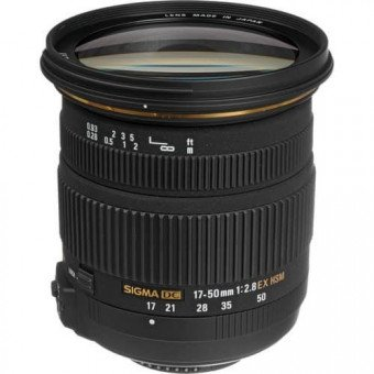Sigma 17-50 mm f/2.8 EX DC OS HSM - Monture Canon Standard
