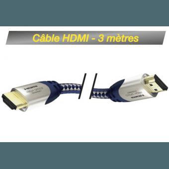Câble HDMI M/M 3M - High Speed Premium Inakustik avec Ethernet Câble HDMI