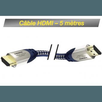 Câble HDMI M/M 5M - High Speed Premium Inakustik avec Ethernet Câble HDMI