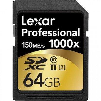Lexar 64GB Professional 1000x UHS-II SDXC Carte SD (SD/SDHC/SDXC)
