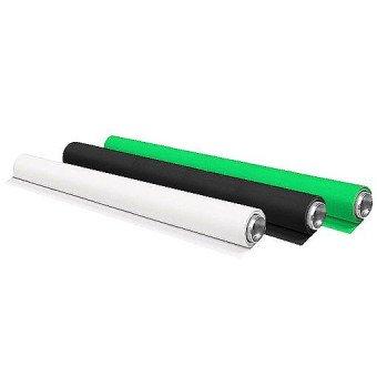 Fonds Vinyle 200 x 600Cm - Blanc / Noir / Vert Fond photo & vidéo