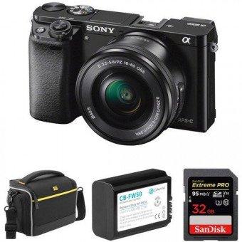 Sony Alpha 6000 Noir + 16-50 mm - OCCASION Produits d'occasion
