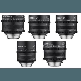 Pack 5X Samyang XEEN CF 16, 24, 35, 50, 85 mm - Monture Canon EF Samyang-Canon