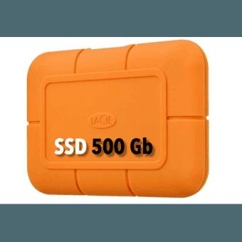 LaCie Rugged USB-C SSD 500GB Disque SSD