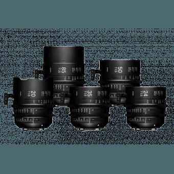 Valise Sigma Cine serie Kit 5 optiques FF T1.5 (EF Mètres) - 20 / 24 /35 / 50 / 85 mm - Ciné Prime Monture EF