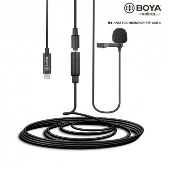Micro cravate USB-C - Walimex pro Boya M3 VIDÉO & SON