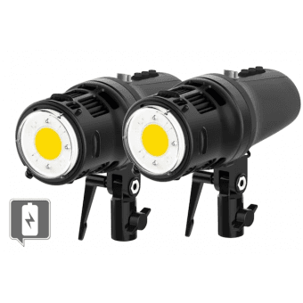 Kit Duo ELINCHROM 2x Torche ELM8 LED Autonome - 8000 Lumens Flash sur Batterie