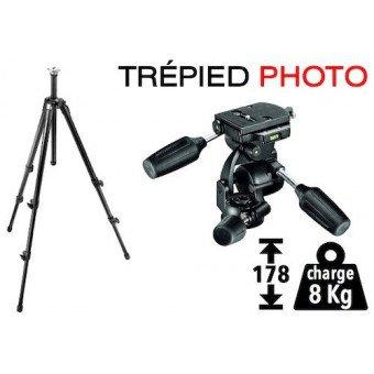 Trépied Photo Manfrotto 055XPROB + Rotule 3D 808RC4 Trépied Photo