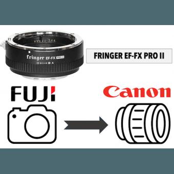 Fringer EF-FX PRO II avec bague d'ouverture électronique intégrée Boitier Fuji (X)