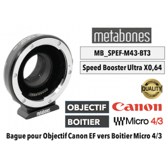 Bague Metabones Canon EF to MFT T XL II - Speed Booster 0,64x MB_SPEF-m43-BT3 Boitier (MFT)